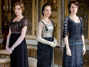 The Crawley sisters: Mary, Edith and Sybil (Downton Abbey)