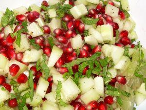 Melon and pomegranate salad