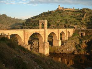 Alcantara Bridge over the Tagus River (Cáceres, Spain)