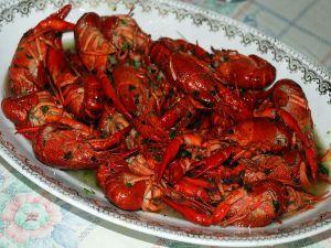 Crayfish with sauce