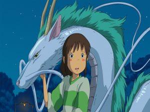 Chihiro and Haku dragon