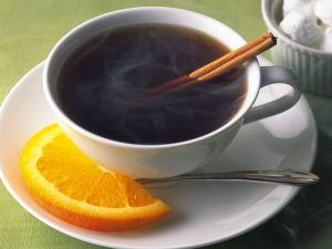 Tea with orange and cinnamon flavoring