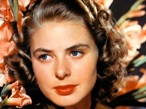 The blue eyes of Ingrid Bergman