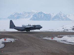 Lockheed Martin C-130J Super Hercules, in Qaarsut Airport (Greenland)