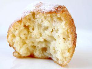 The crumb of a sweet bun