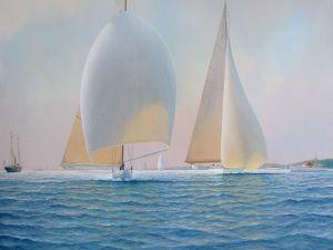 Painting of sailing ships