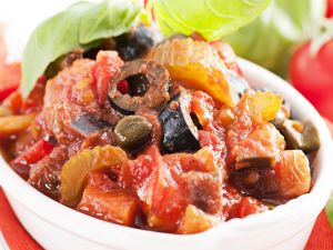 Sicilian Caponata, an Italian tipical dish with vegetables