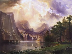 Among the Sierra Nevada Mountains (California), by Albert Bierstadt (1868)