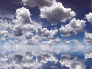 Clouds reflected in the water