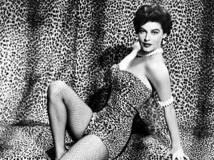 Ava Gardner dressed in leopard