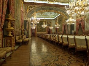 Dining room of the Royal Palace of Madrid