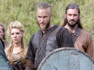 Ragnar Lodbrok, his wife Ladgerda and her brother Rollo