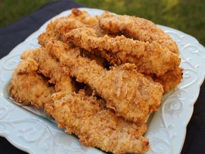 Dish with crispy fried chicken