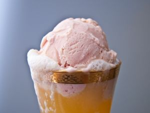 Ice cream with beer