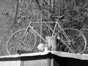 Bicycle on the roof