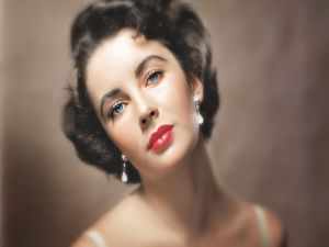 The actress Elizabeth Taylor