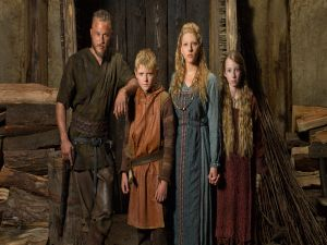 Ragnar with his wife and children