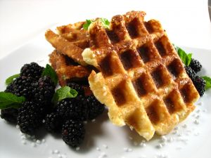 Blackberries and waffles