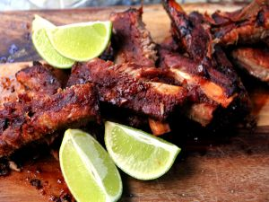 Ribs and lime