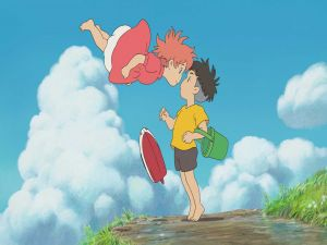 The two friends, Ponyo and Sousuke