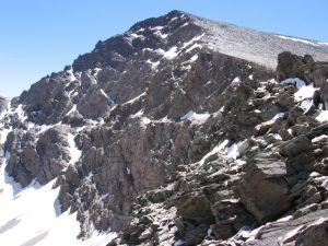 North Face of Mulhacen, from Sierra Nevada runway (Spain)