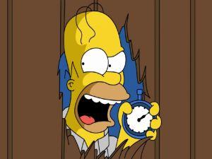Homer angry