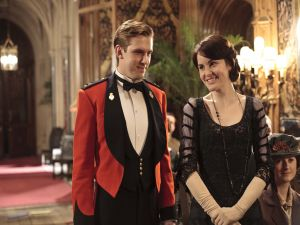 "Mary and Matthew in ""Downton Abbey"""