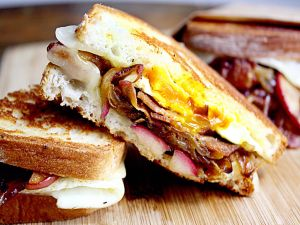 Bacon and egg sandwiches