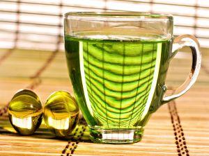 Green colored tea