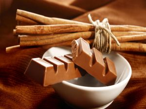 Chocolate and cinnamon