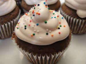 Cupcake with cream cheese
