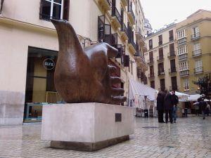 Sculpture of Joseph Seguiri in Malaga, Spain