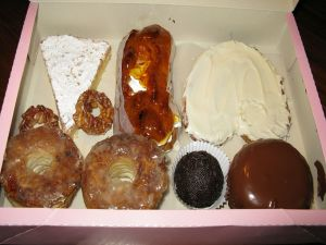 Box with traditional sweets of Utrera, Spain