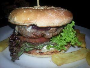 Homemade burger