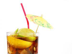Iced tea with umbrella