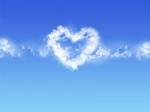 Cloud heart-shaped
