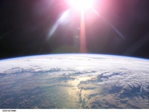 The Sun over the Earth