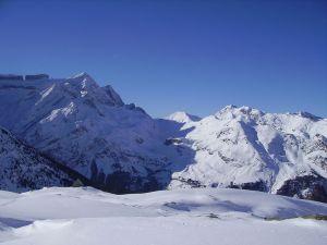 View of the Rolando's Gap, in the massif of the Monte Perdido