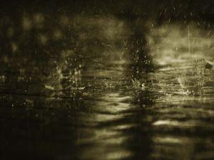 Water hitting the ground