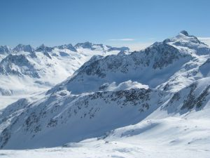 Snowy peak in Switzerland