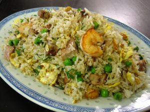 "Chinese rice ""three delights"""