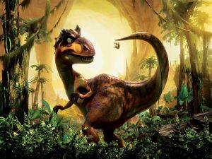 "Dinosaur of the movie ""Ice Age 3"""