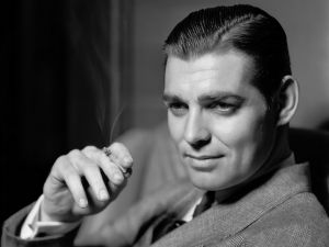 Clark Gable without his mustache characteristic