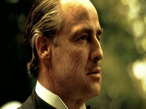 "Marlon Brando in the role of ""The Godfather"""
