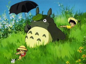 Totoro by the field