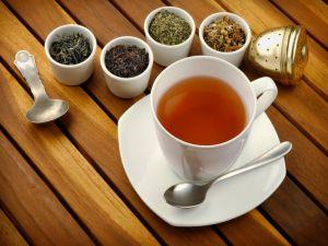 Four types of herbal tea