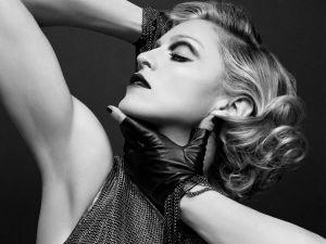 Madonna side face