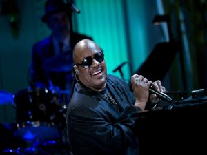 Stevie Wonder giving a concert
