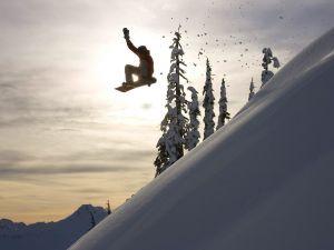 Flight of snowboard