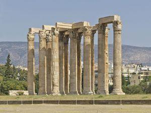 Temple of Olympian Zeus in Athens (Attica, Greece)